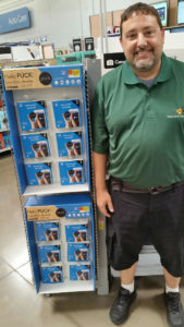 John Montino from SmashToast in Walmart with display